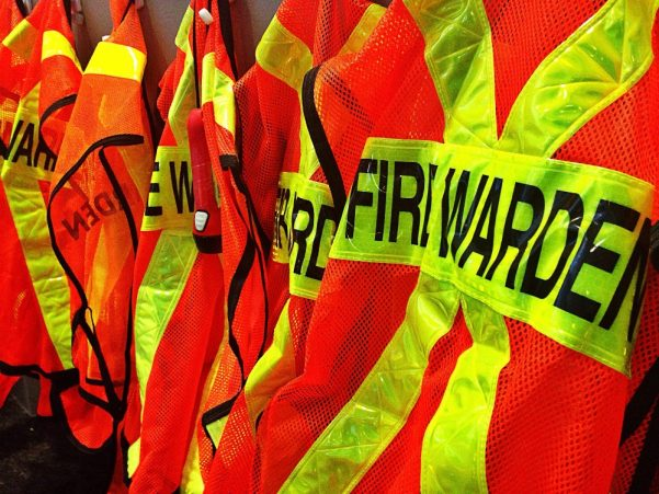 Fire warden high vis jackets