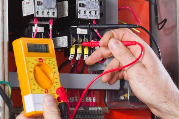 Fixed wire testing with a hand on electrical testing equipment