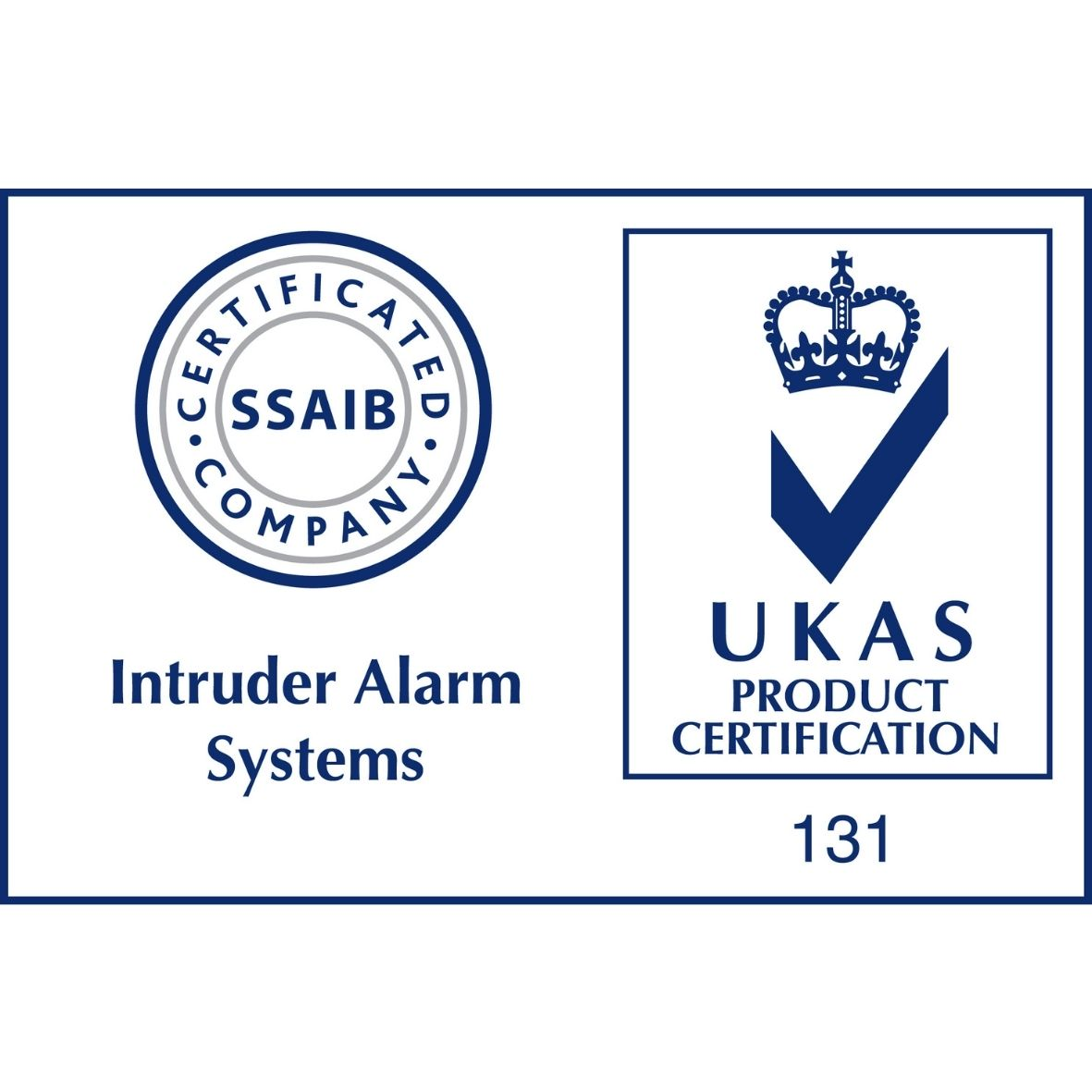 SSAIB Intruder Alarm with UKAS Accreditation Logo